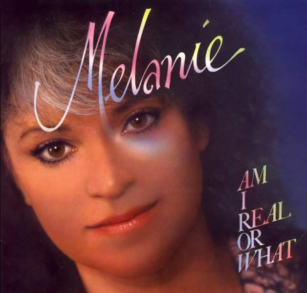 Melanie on her US-Single  'Am I real or what'  in the year 1985